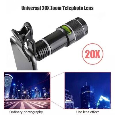 20X Zoom Telephoto External Mobile Phone Camera Lens for Xiaomi Samsung iPhone