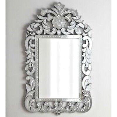 NEW VENETIAN Crown Horchow Arch Engraved Scroll Wall Vanity Mirror $1035