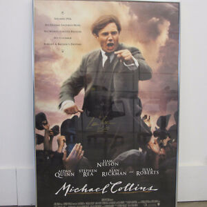 Liam Neeson Signed Framed Michael Collins 27x40 Movie Poster