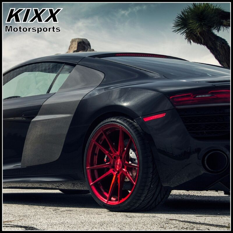 """20"""" Rohana Rf2 20x9 20x10 Red Forged Concave Wheels For Ford Mustang"""