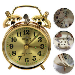Wind Up Twin Bell Alarm Clock Mechanical Clocks Loud Wind-Up Bedside Analog