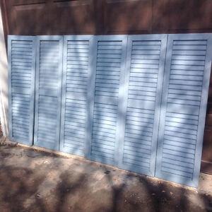 "ALUMINUM WINDOW SHATERS 14""W X 48""H & 14""W X 62""H- $20 EACH"