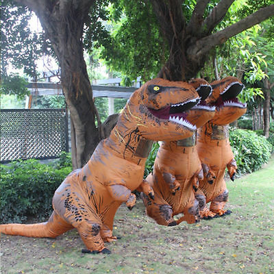 Usa Chic Inflatable T Rex Child Kids Costume Jurassic World Park Blowup Dinosaur