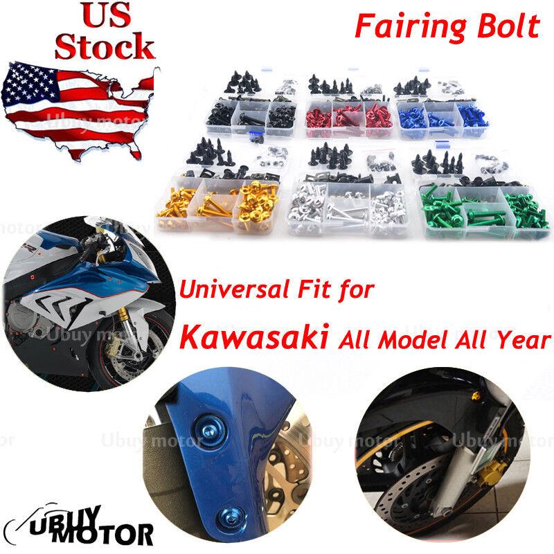 CNC Motorcycle Fairing Bolts Kit Bodywork Clips Screws For Kawasaki Z250 ABS 15