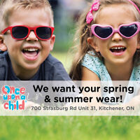 We want your kids stuff! Cash on the spot!