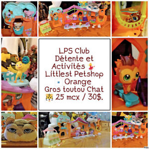 Littlest Pet Shop Maison détente Orange + Gros Chat 25 mcx