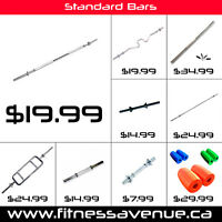 Standard Bars Curl Bar Tricep Bar Dumbell Handle – Brand New