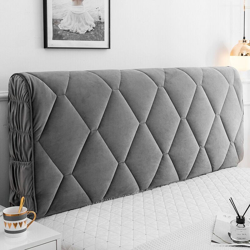 Luxury Thicken Headboard Cover Soft Bed Head Back Decor Protector Slipcover Beds & Mattresses