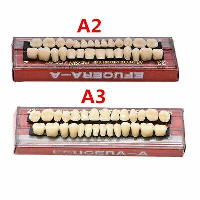 Dental Denture Acrylic Resin Full Set Teeth Upper Lower Shade 23 A2a3 28pcs