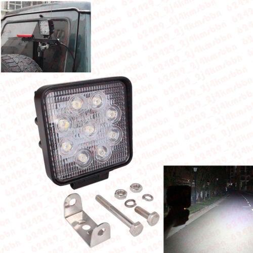 SUV Offroad Truck Boat ATV 27W 9 LED Work Light Bar Driving Fog Lamp Flood Beam
