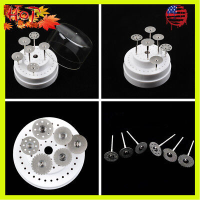 18pcs Dental Diamond Polishing Wheel Saw Disc Rotary Tool With 18pcs Shanks