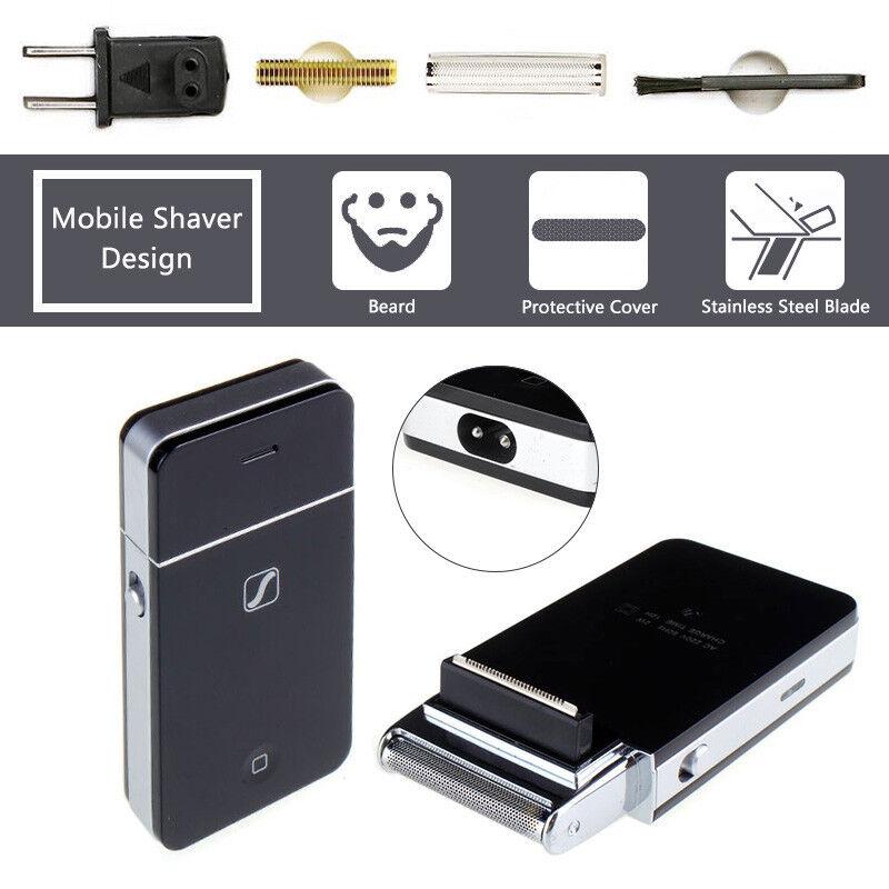 Men's Electric Shaver Rechargeable Travel Lightweight Pocket