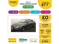 Grey AUDI TT COUPE 2.0 TDI Diesel ULTRA S LINE BLACK EDITION FROM £77 PER WEEK!