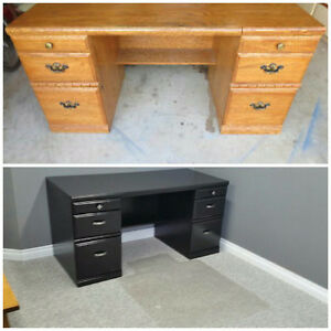 Refinished Oak Desk