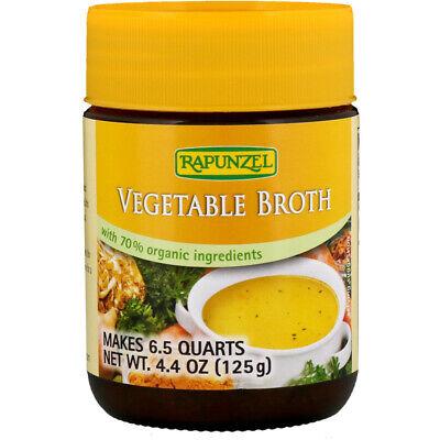 Rapunzel, Vegetable Broth, Certified Organic 4.4 oz (125 g) - - Rapunzel Organic Soup