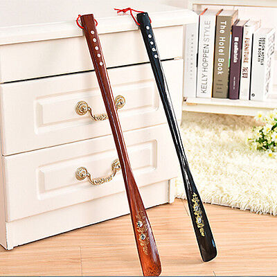 Flexible Long Handle Shoehorn Shoe Horn AID  Stick Wooden 55cm SR