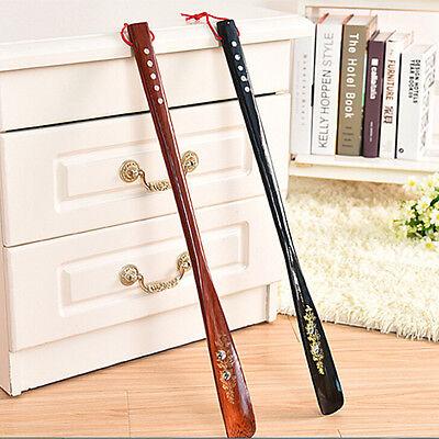 Flexible Long Handle Shoehorn Shoe Horn AID Stick Wooden 55cm FH