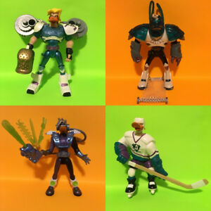 Mighty Ducks Cartoon Action Figure lot 90s Mattel Disney