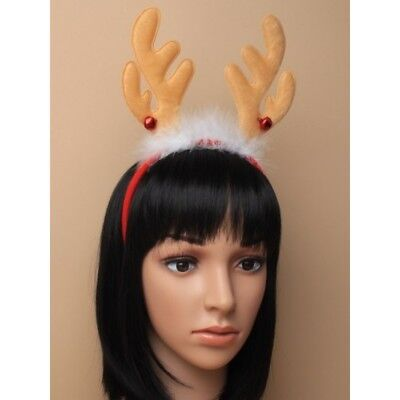 CHRISTMAS HEADBANDS BOPPERS SNOWBALL HAIR CLIPS REINDEER ANTLERS RUDOLPH XMAS - Rudolph Headband