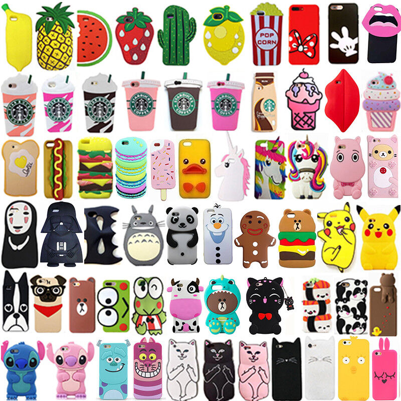 For iPhone SE 5 5s 5c Hot 3D Cute Cartoon Soft Silicon Gel Phone Case Cover Back