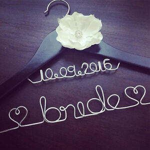 Personalized Wire Hangers, Cake Topper & Table Numbers - WEDDING Kawartha Lakes Peterborough Area image 1