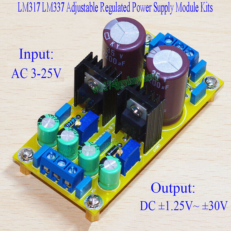 5PCS LM317 Adjustable Power Supply Board With Rectified AC DC Input DIY KIT