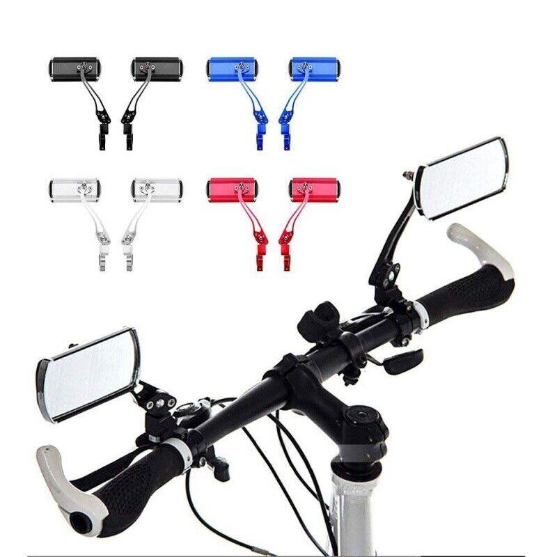 1 Pair Bicycle Handlebar Mirror Bicycle Bike Rearview Wide Range Back Sight Safe