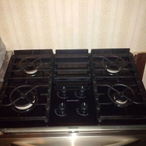 "30"" KitchenAid Black Gas Ceramic-Glass Cooktop"