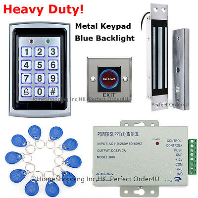 Metal RFID Card and Password Door Access Control System+Waterproof Magnetic Lock