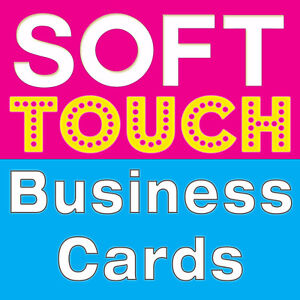Soft Touch Velvet Laminated Business Cards Toronto Mississauga