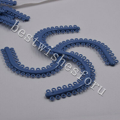 700 Pcs Ring Dental Orthodontic S Type Separate Tie Molded Separators Blue Color
