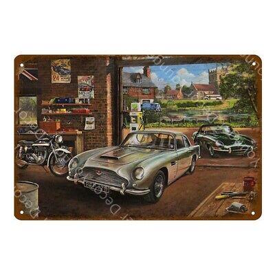 Aston Martin Metal Poster Car Garage Vintage Style Retro Tin Sign