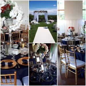 articles pour decoration mariage communion shower: nappes housse