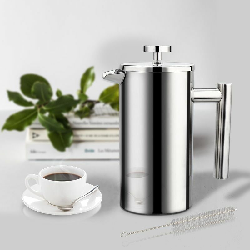 Coffee Maker French Press Stainless Steel Espresso Machine H