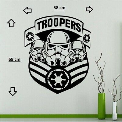 Star Wars Military Badge Wall Decal Stormtrooper Vinyl Sticker Galactic Empire H
