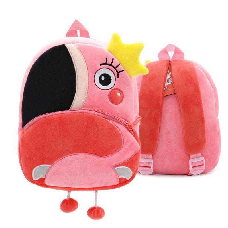Toddler Kids Children Boys Girls 3D Cartoon Animal Backpacks School Bag Rucksack