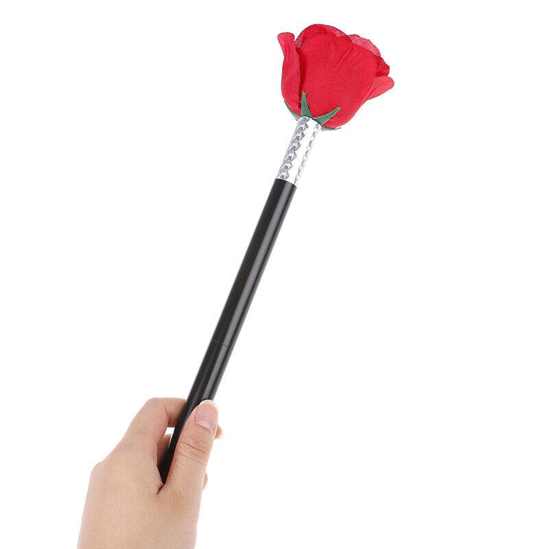 Stick Rose Flower Magic Tricks Flowers Close Up Street Stage Magic Props-