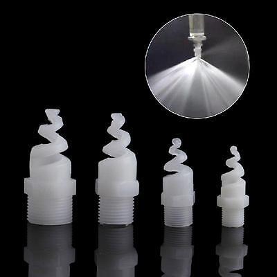 5Pcs Plastic PP Spiral Cone Nozzle Spray Sprinkler Head 1/4