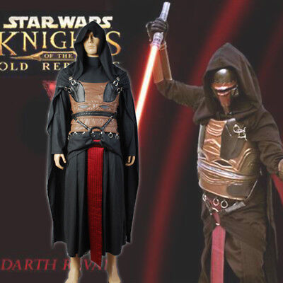 Star Wars Sith Dark Lord Darth Revan Costume Outfit Uniform Cosplay Cape Robe (Sith Outfit)