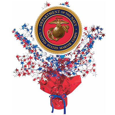 US Marines Party Supplies RED, WHITE, BLUE EAGLE CENTERPIECE DECORATION (Red White Blue Centerpieces)