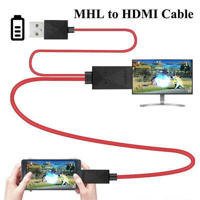 MHL 11Pin Micro USB to HDMI 1080P HD TV Cable Adapter For Android Samsung Phone for sale  Shipping to Nigeria