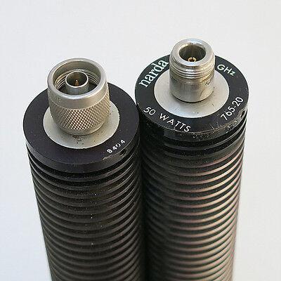 1pc narda 765-20 50W/20dB/DC-5GHz N RF coaxial attenuator