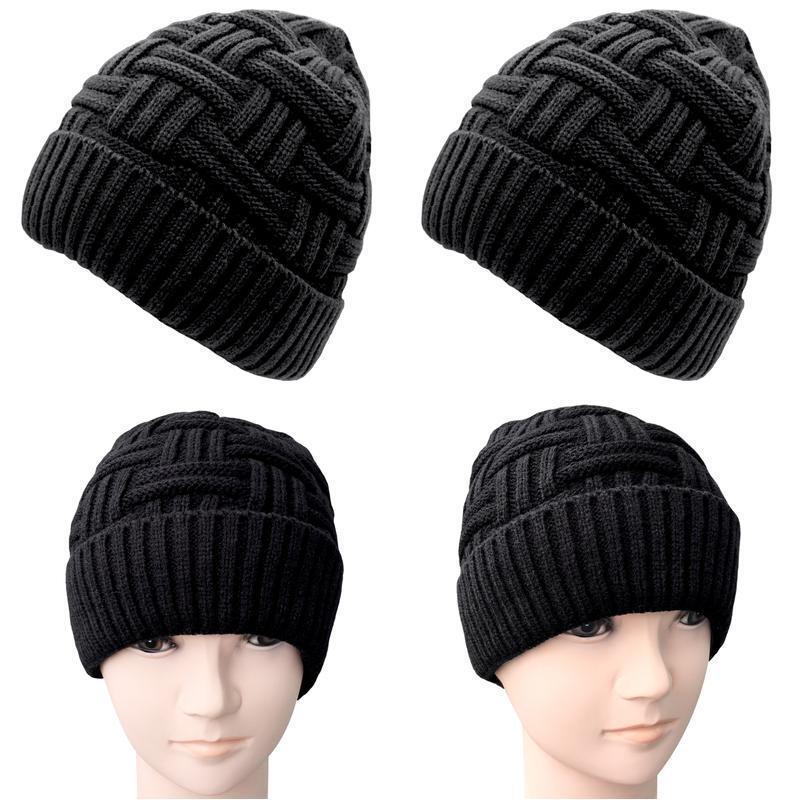 Loritta Mens Winter Warm Knitting Hats Wool Baggy Slouchy Be