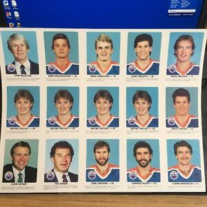 1984-85 Red Rooster Edmonton Oilers Team + 4x Gretzky
