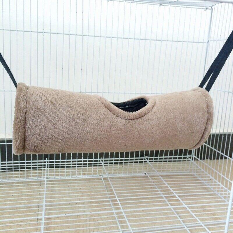 Pet Hamster Tunnel Hammock Ferret Rat Parrot Squirrel Hanging Nest Bed House Toy