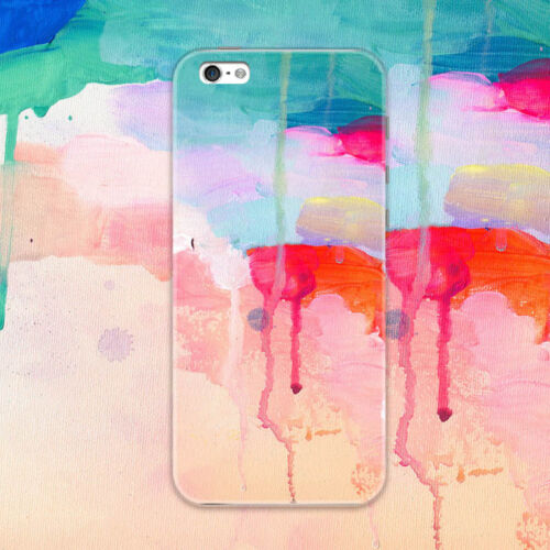 Watercolor Rubber Soft TPU Silicone Back Case Cover for Apple iPhone 6 7 8 Plus