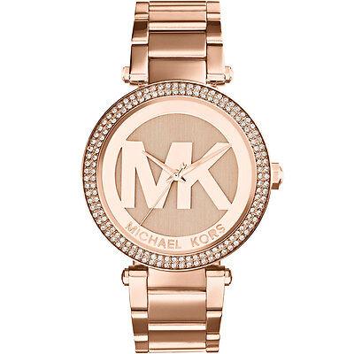 MICHAEL KORS MK5865 Parker Pave Dial Rose Gold Tone Ladies Wrist Watch