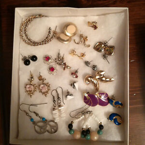 coll.ection of earrings  & picture  mirror Kitchener / Waterloo Kitchener Area image 1