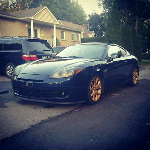 Hyundai tiburon v6 2008 bas millage full loades