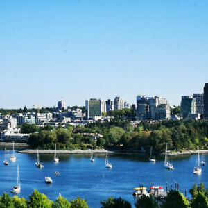Yaletown stunning view of False Creek, furnished 2 bedrooms